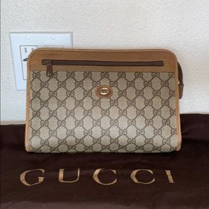 Authentic Gucci clutch pouch cosmetics bag case